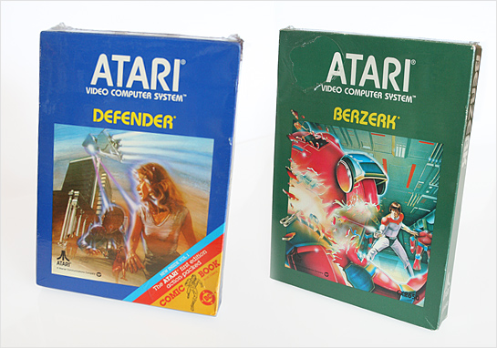 Atari 2600 Berzerk and Defender boxes