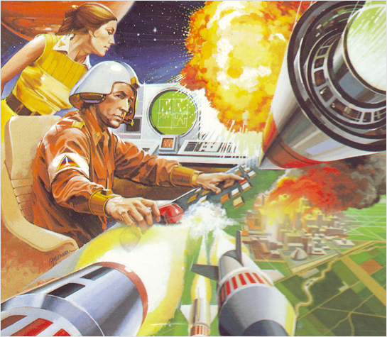 Atari 2600 Missile Command Artwork