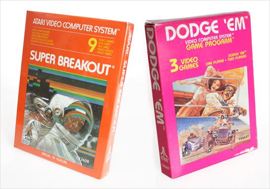 Super Breakout and Dodge 'Em Packaging for Atari