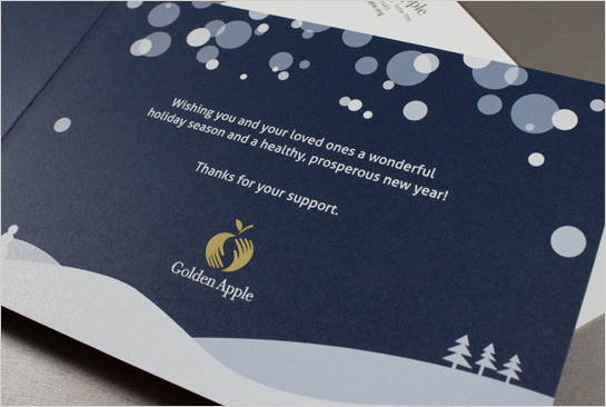 Hexanine: Golden Apple Foundation Holiday Card Interior