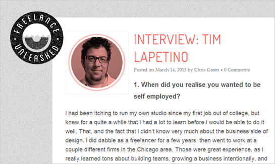 Hexanine: Tim Lapetino Interview at Freelance Unleashed