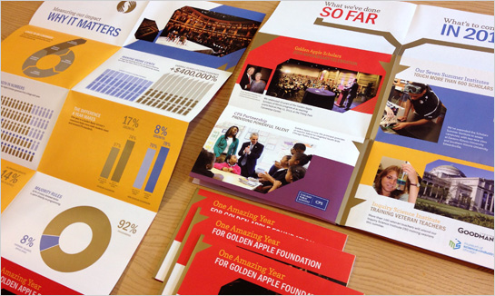 Golden Apple Foundation 2013 Direct Mail design