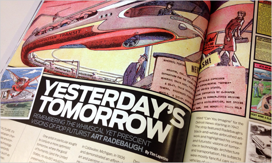 Art Radebaugh article by Tim Lapetino for Geek Magazine