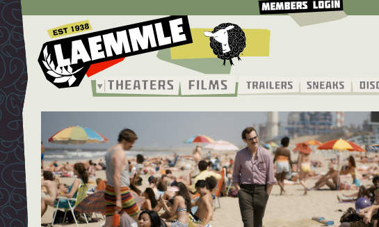 Hexanine: Laemmle Theatres website and branding